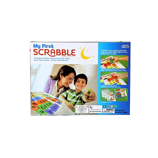 ChildrenFirstScrabbleWithColour CodedTilesAndCards TurningLettersIntoWordsMadeEasy.