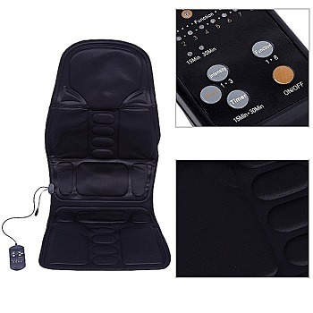 ElectricRoboticCushionMassageSeatVibratorForHome,CarAndOfficeCushionRelaxationAnti StressHeatPad