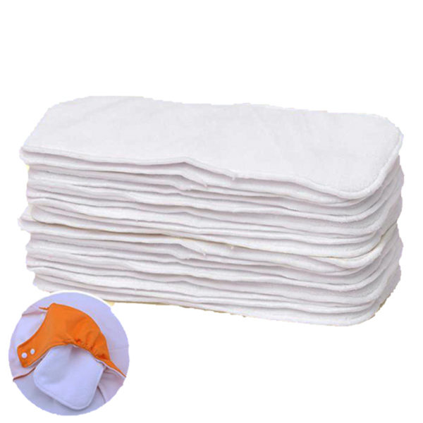 pcs lot Washable Diaper Inserts Reusable  Layer Microfiber Inserts Breathable Baby Cloth Diaper Nappies